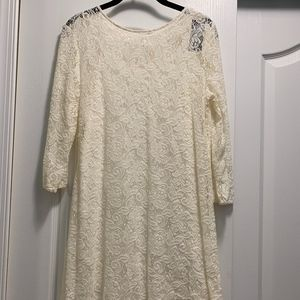 Abercrombie & Fitch Cream Lined Lace Dress